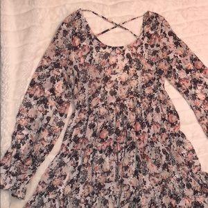 Women's floral open back dress